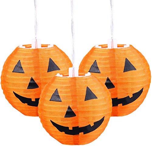 Halloween-Paper-Lights-Jack-O-Lantern-Pumpkin-Bat-String-Lights-10-Count-Nightlight-for-Treat-Party-Outdoor-Decor-Pumpkin