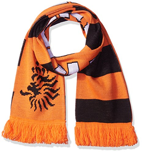National Soccer Team Holland Jacquard Knit Scarf, One Size, Orange/Black/White