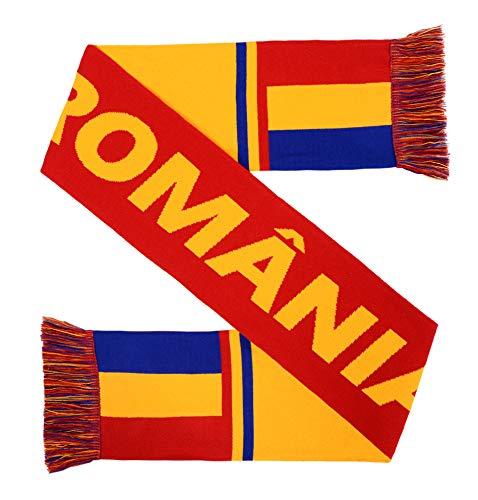Euroscarves National International Soccer High-Definition HD Knit Scarf (Romania)