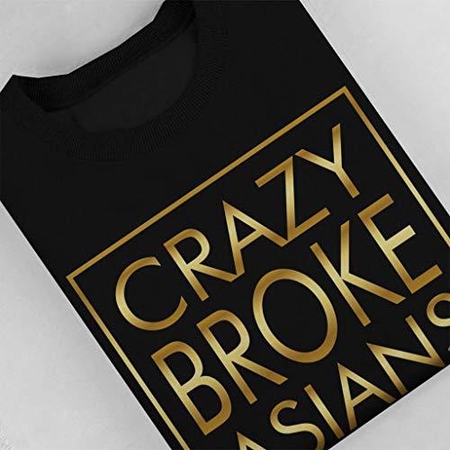 Noir Text Pour Femmes Crazy shirt Gold Broke Asians Sweat Y8Xq0