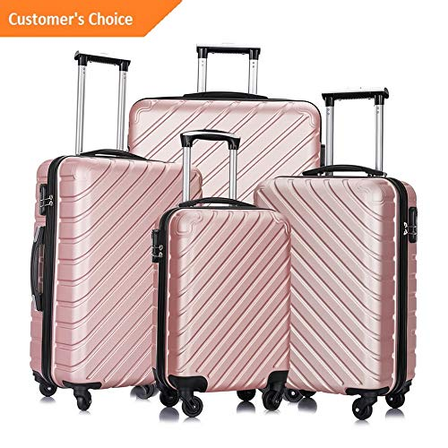 Amazon.com | Sandover 3/4PCS Travel gage Set Bag Trolley ABS Spinner Carry On Business Suitcase | Model LGGG - 12674 | | Luggage Sets
