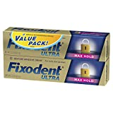 Fixodent Ultra Max Hold Denture Adhesive, 2.2 Ounce, Twin Pack