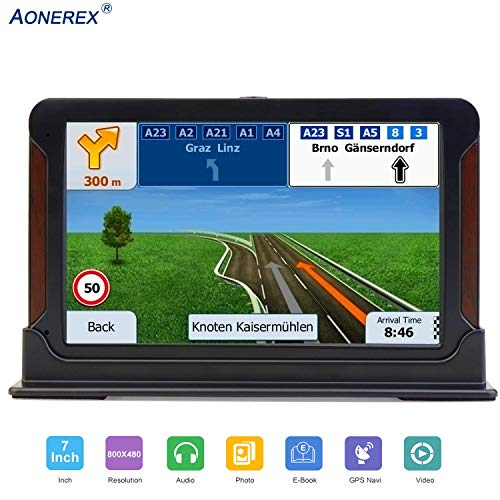 GPS Navigation for Car, HD Touch 7-inch 8GB GPS Navigator, Voice Traffic Warning,Turn- to-Turn Traffic Alert Vehicle Car GPS Navigator,Lifetime Free Map Updates