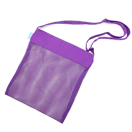 Beach Mesh Tote Bag Sea Shell Sand Toy Bags for Adults Teens Kids 4 Pack by Cooque by Cooque (Image #1)