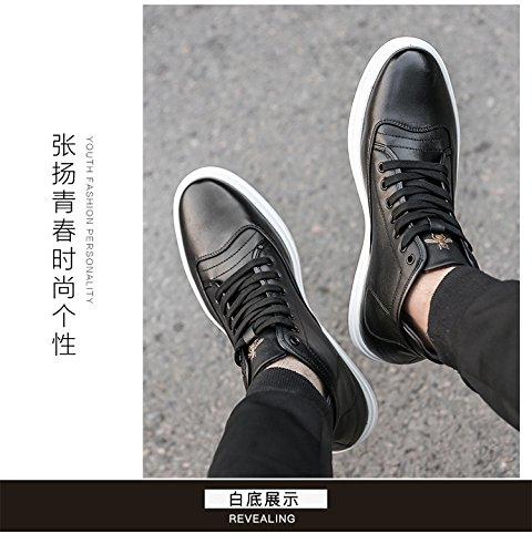 Happyshop Tm Heren Leren 2 Inch Hoogte Toenemende 6cm Lift Schoen Enkel Board Schoenen Zwart (lncreased Met 2 Inch)