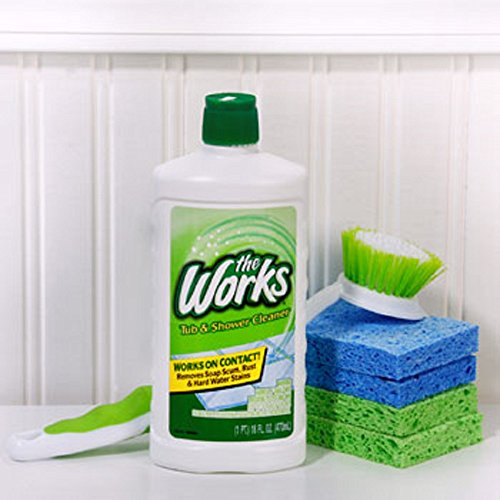 Labs Care Home (The Works Tub & Shower Cleaner, 16 oz. (6) Compare to CLR Pro Calcium, Lime & Rust Remover)
