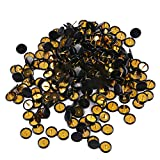 Ornerx Flat Push Pins Decorative Thumbtacks for Cork Black 200 Count