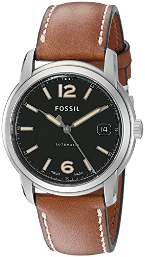 Fossil FSW1002 Swiss Made Automatic Leather Watch - Tan