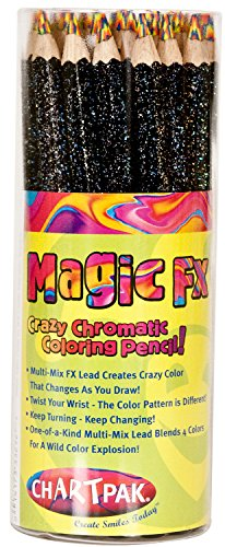 Chartpak 10015199 30 Piece KOH Neon Magic Fx Pencil Open Stock Tube Mix