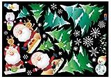 Jiniy Sledding Santa Claus Wall Decals Deco Mural Sticker(PSC60002)