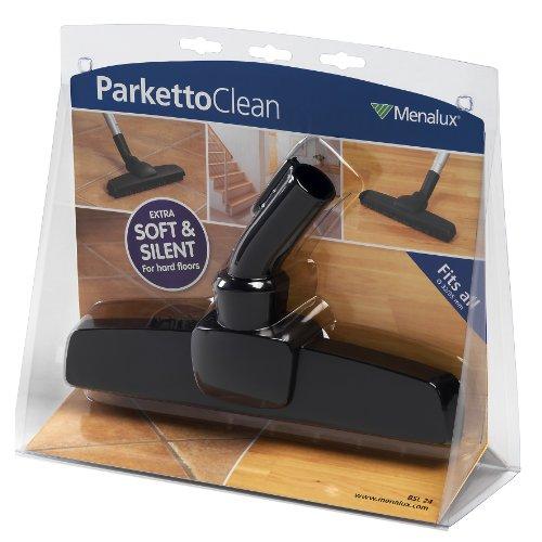 Original Markenware Menalux BSL24 Parketto Clean, Hartbodendüse mit Naturhaar, 32/35mm Adapter, u.a. für Dirtdevil, Bosch, Siemens, Miele