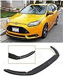 Extreme Online Store for 2012-2014 Ford Focus ST MK3   EOS Add-On Bottom Line Fiberglass Primer Black Front Bumper Lower Lip Splitter