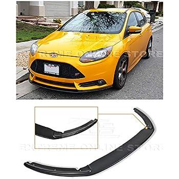 Extreme Online Store for 2012-2014 Ford Focus ST MK3 | EOS Add-On Bottom Line Fiberglass Primer Black Front Bumper Lower Lip Splitter