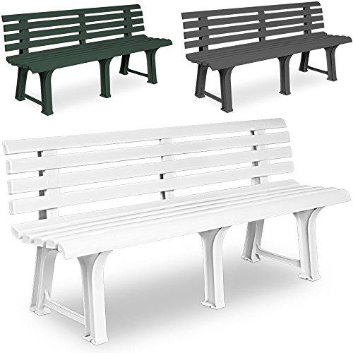 Gartenbank Sitzbank Parkbank Bank Orchidea Gartenmöbel Kunststoff 3 Sitzer weiß