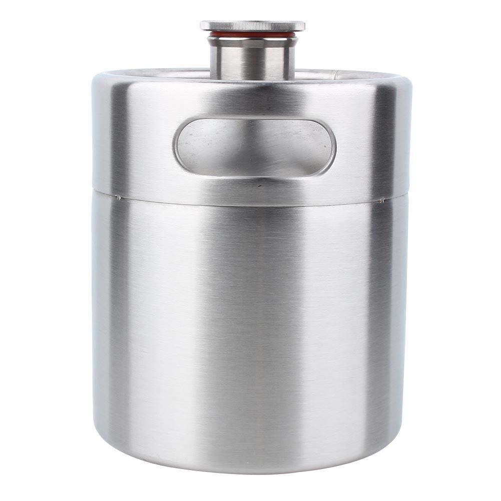 Aufee Mini Beer Keg, Multifunctional Food Grade Fermenter, Stainless Steel Beer Barrel for Wine, Beer, Champagne, Juices by Aufee