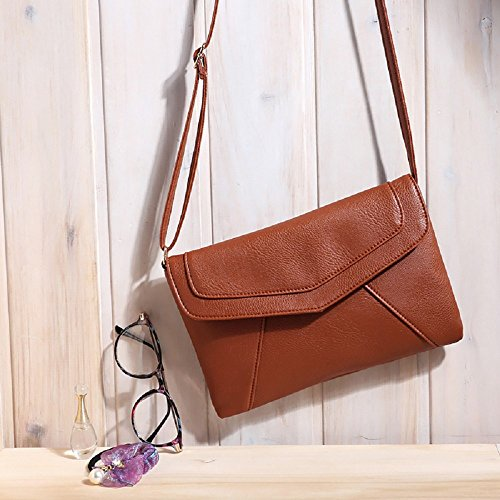Messenger Cross Vintage Shoulder Bag Rcool Satchel Bags Bag Envelope Handbags Women Shoulder Brown Body Women vqYZFF