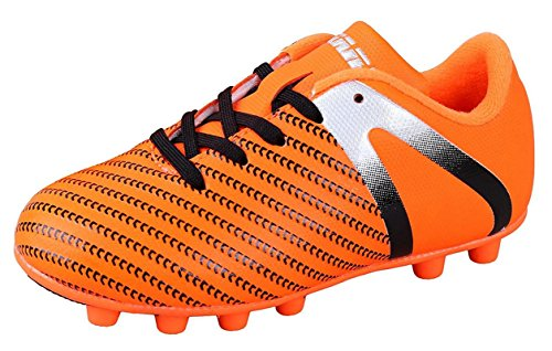 ct FG Soccer Cleats | Soccer Cleats Boys | Kids Soccer Cleats | Outoor Soccer Shoes | Impact Orange/Silver 3.5 ()