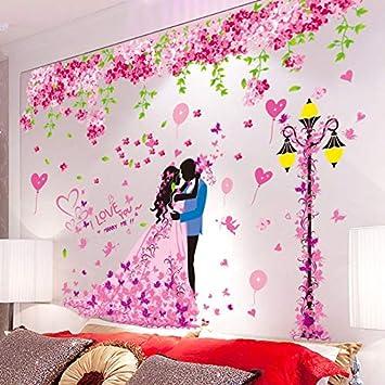Amazon Com Fefre 3d Wall Decal Romantic Bedroom Wall Decor Self