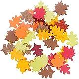 120 Fall Leaf Glitter Foam Shape Stickers