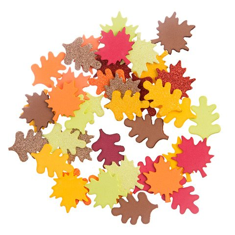 Baker Ross Leaf Glitter Stickers Pack of 144 for Kids Arts and Crafts