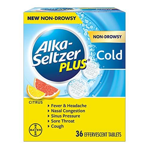 Alka-Seltzer Plus Alka-seltzer plus Non-drowsy Cold Citrus 36 Count effervescent Tablets, Citrus, 36 Count (Non Drowsy Cold Medicine For Runny Nose)