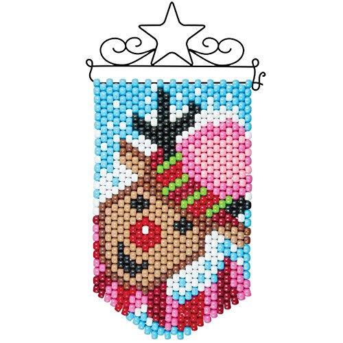 Herrschners Holiday Trio-Reindeer Mini Banner & Hanger Beaded Banner (Beaded Trio)