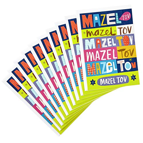 Hallmark Tree of Life Pack of Mazel Tov Cards (10 Cards and Envelopes)