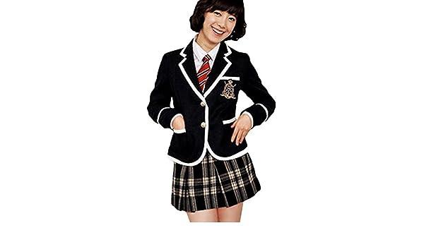 Traje adolescente japonesa coreana Cosplay y chaqueta negra ...