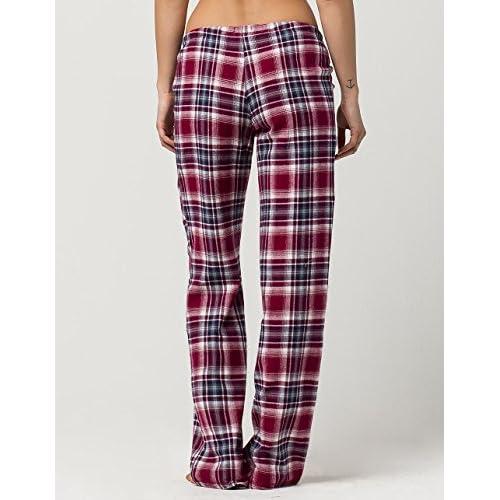 944cff478078 60%OFF COSMIC LOVE Burgundy Plaid Womens Flannel PJ Pants ...
