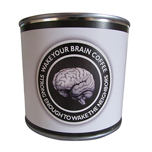 WAKE YOUR BRAIN COFFEE in a Tin Can | Ristretto Artisan Coffee Roasted From Ethiopian Beans - Stronger than Espresso | Strong Dutch Coffee with Smooth, Rich Flavor | Ground Bean