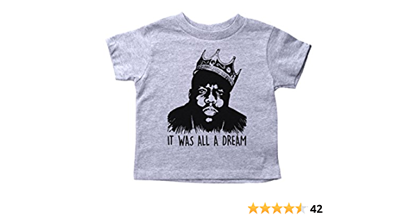 Toddlers T-Shirt Kids Tee Toddler Tee Kid Gift Kid Birthday Notorious BIG Biggy Smalls Crown Kids T-Shirt Kid TShirt