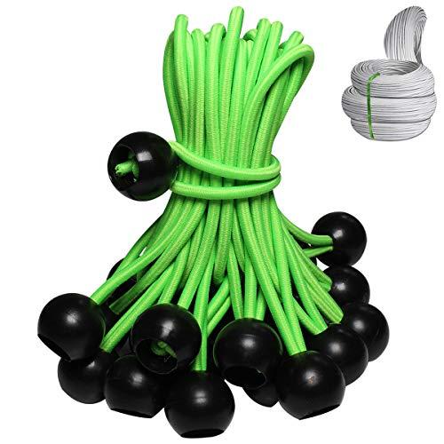 Ball Bungee Cord Premium Heavy Duty Elastic Cords 50 Pack (6 inch)