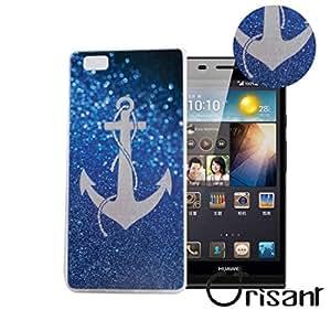case cover para Huawei Ascend P8 Lite 5.0'' Smartphone,Crisant ancla Diseño Protección suave TPU Gel silicona Teléfono Celular Back funda Carcasa para Huawei Ascend P8 Lite 5.0'' Smartphone