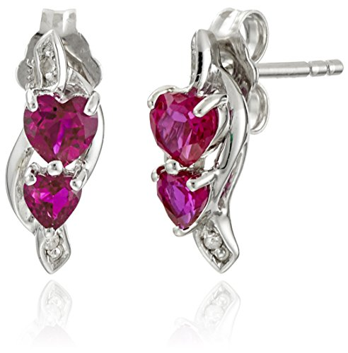 Sterling-Silver-Created-Ruby-and-Diamond-Accent-Heart-Earrings-and-Pendant-Necklace-Jewelry-Set-18