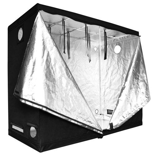 Reflective Mylar Indoor Hydroponic Grow Tent: 96x48x78 Inch (8ft x 4ft x 6.5ft)