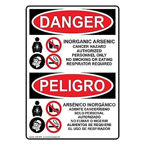 Compliancesigns Vertical Aluminum Osha Danger Inorganic Arsenic