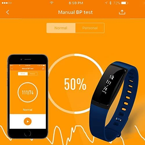 Blue AUPALLA Fitness Trackers 21BP Smart Band Activity Trackers with Blood Pressure Measure Heart Rate Monitor Sleep Monitor Pedometer Calories Track Stopwatch