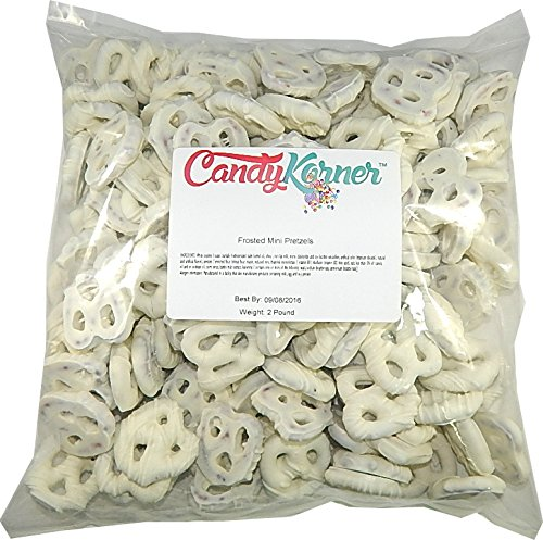 Frosted Mini Pretzels White Chocolate Flavored Coating 2 Pounds (32 Oz)