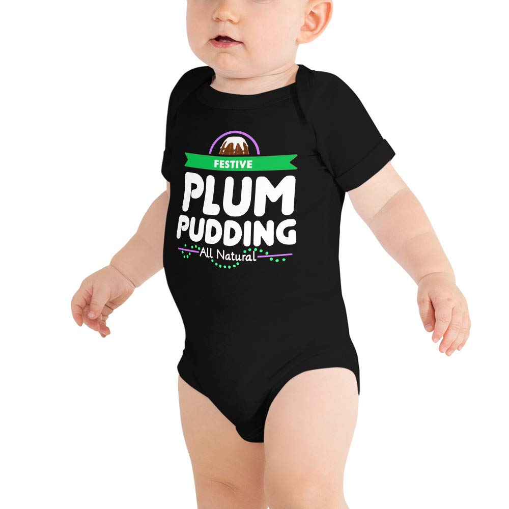 Plum Pudding Festive All Natural Christmas Foods Baby Bodysuits Baby Shirt