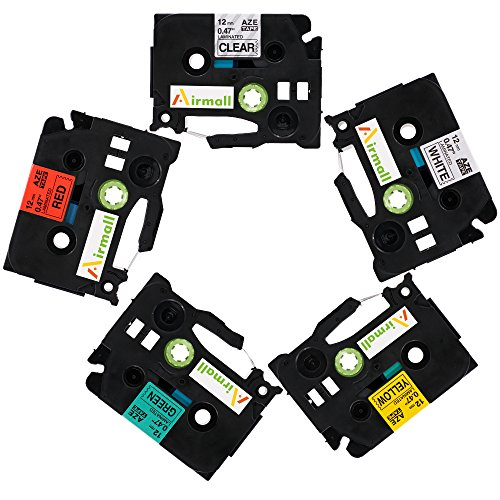 Airmall 5 Pack Compatible for Brother P-touch Label Tapes...
