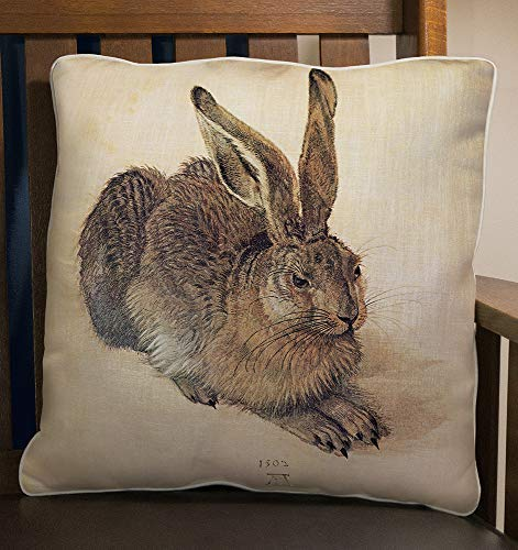 Fiddler's Elbow Dürer Rabbit Pillow | Accent Decor Throw Pillow | 100% Made in The U.S.A | Great Gift for Bunny Lovers [並行輸入品] B07RCDGC6H