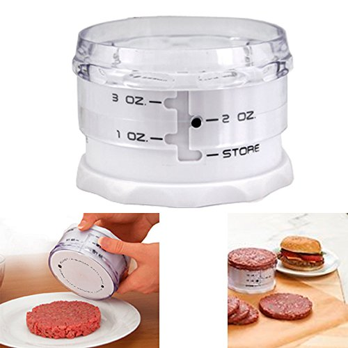 Adjust A Burger Mini Adjustable Slider Hamburger Patty Maker Press Set 1 - 3 OZ (Adjustable Hamburger Press)