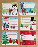 Christmas Gift Tag Stickers 60 Count Modern Colorful Xmas Designs - Looks Great on Gifts/Presents, Wrapping Paper and Gift Bags