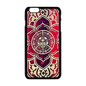 peace and justice obey Red star flowers Cell Phone Case for Iphone 6 Plus