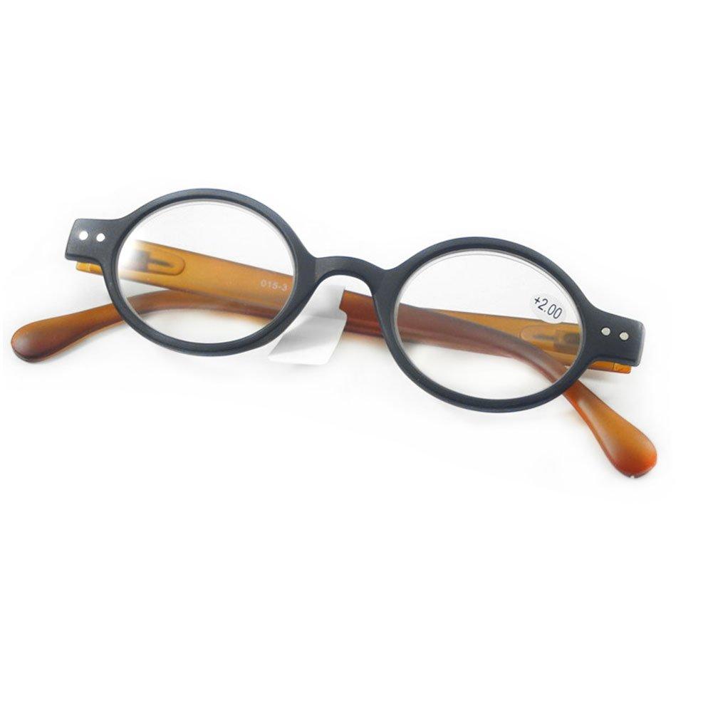 Yefree Occhiali da lettura per occhiali da lettura ovali rotondi vintage unisex Forza: da +1.0 a +4.0
