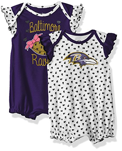 "NFL Girls Newborn ""Heart Fan"" 2Piece Creeper Set"