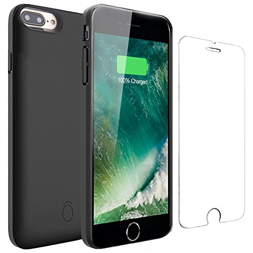 iPhone 6 6s Battery Case - Veepax Premium 5000mAh Portable Charging Case for iPhone 6/6s/7/8 (4.7 Inch) Extended Rechargeable Power Bank - Black
