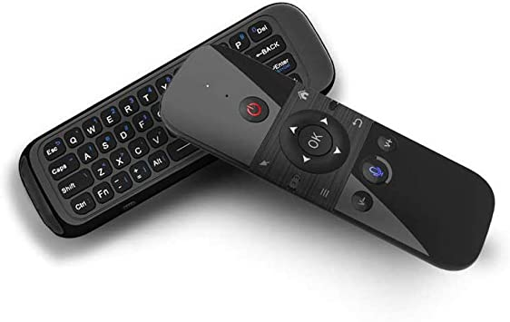Docooler 2.4G Ratón de Aire Teclado inalámbrico Control de Voz Sensor de Movimiento de 6 Ejes Control Remoto de Aprendizaje IR para Smart TV Android ...