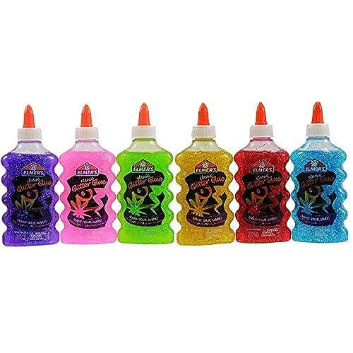 low-cost Elmer\'s Washable Glitter Glue, 6 oz Bottles, 6-Pack, Green ...