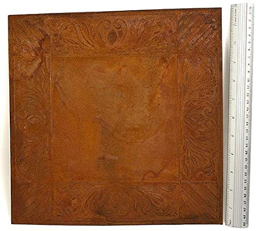 (Factory Direct Craft Rusty Tin Embossed Ceiling Tiles | 4 Tiles | for Indoor or Outdoor Decor (Acacia and Stripes))